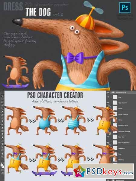 PSD character creator vol.2 3501591