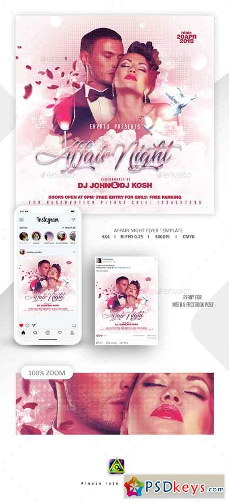 Affair Night Flyer Template 22669352