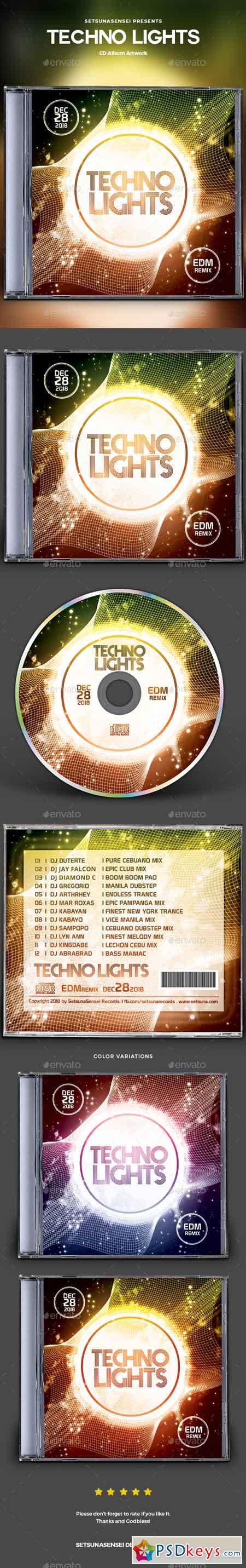 Techno Lights CD Album Artwork 22711029
