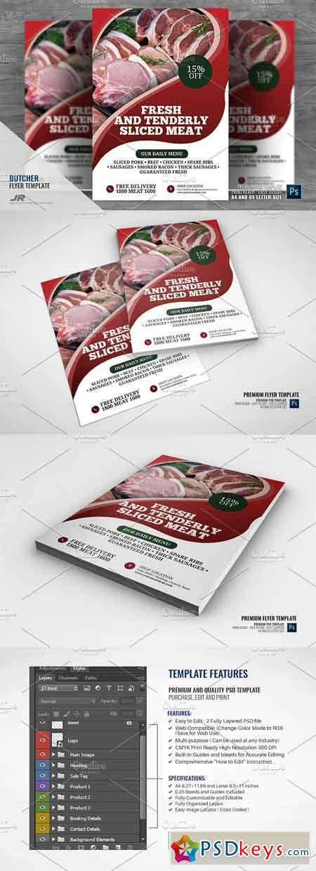 Butcher Shop and Services Flyer 2945673