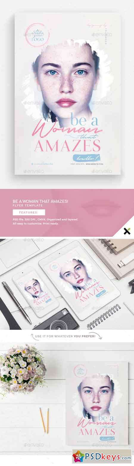 Be A Woman That Amazes Flyer Template 22712176