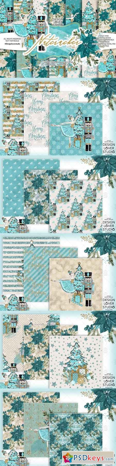 Nutcracker digital paper pack 3502532