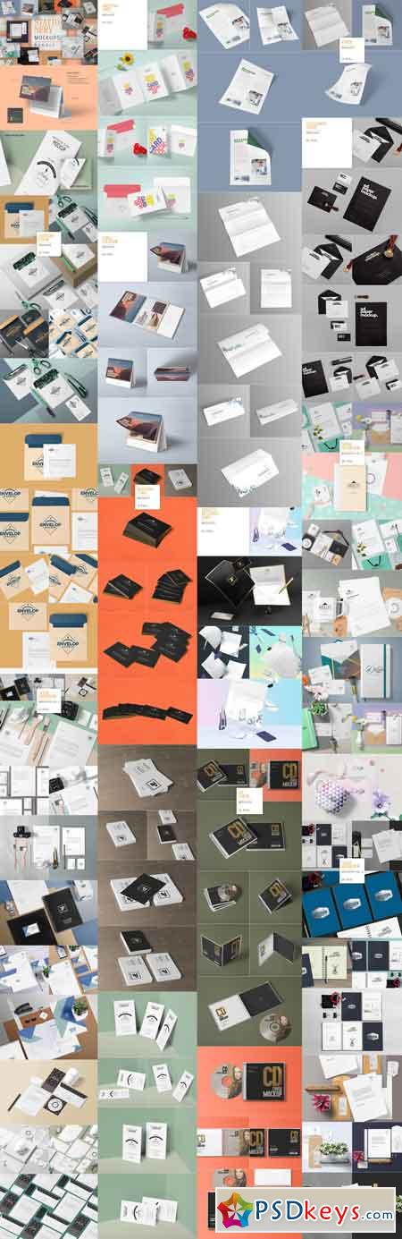 111 Stationery Mockups Bundle 2984761