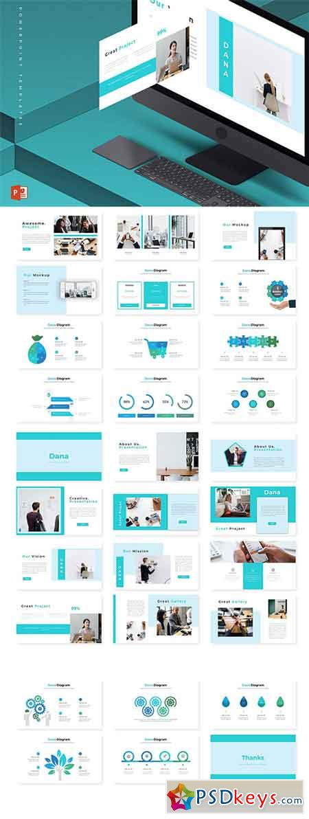 Dana - Powerpoint Keynote and Google Slides Templates