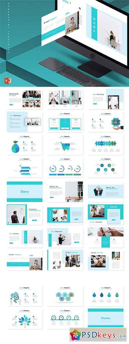 Dana - Powerpoint Keynote and Google Slides Templates