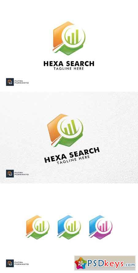 Hexa Search - Logo Template 3095314