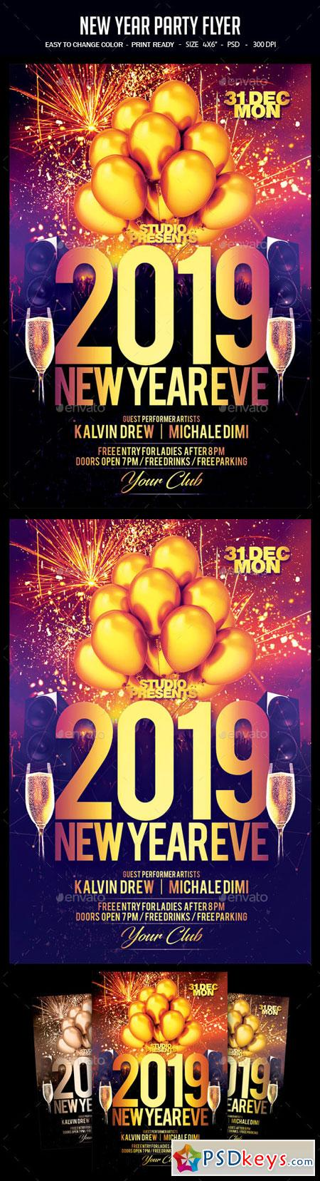 New Year Party Flyer 22757786
