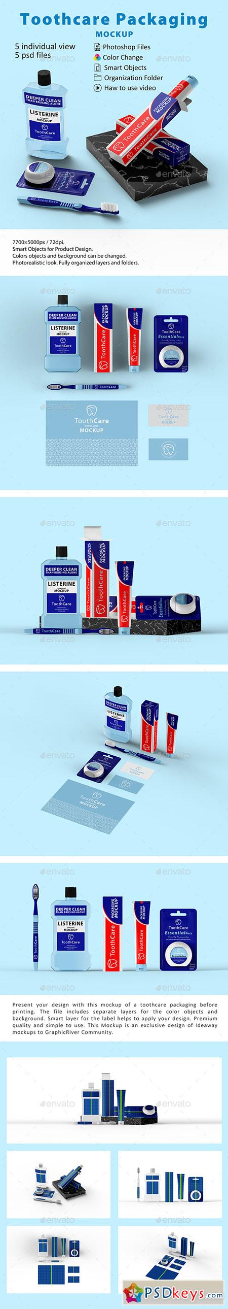 Toothcare Packaging Mockup 22723216