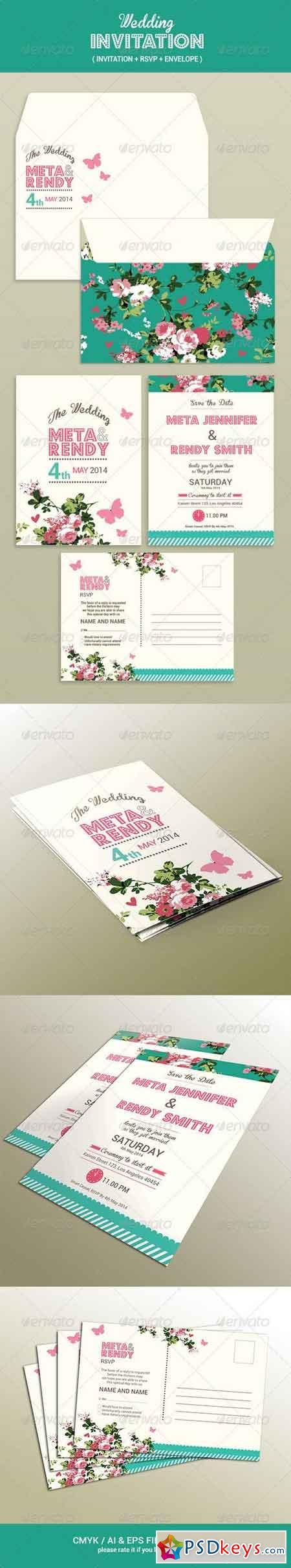 Wedding Invitation Set 7596182