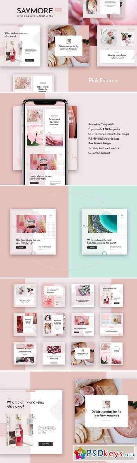 Saymore Pink Fantasy Templates