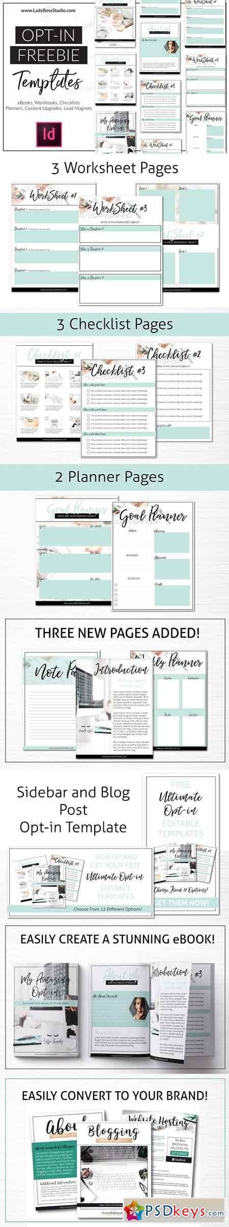 InDesign Opt-In Freebie Templates 2886609