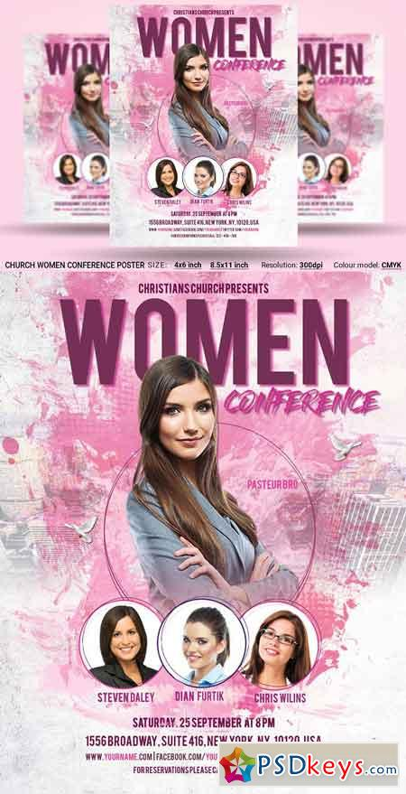 Church Women Conference Flyer Poster 2958709
