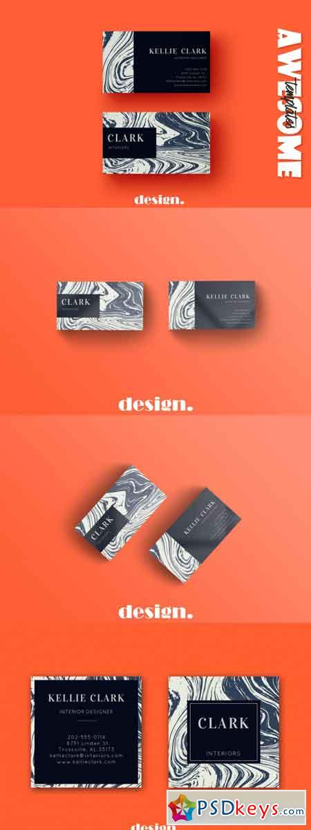 Marble Business Card Template 3490682