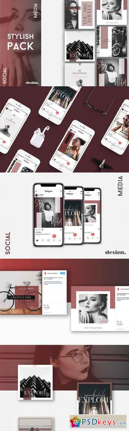 Stylish Social Media Pack 3490675
