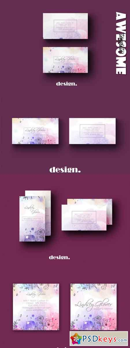Wedding Business Card Template 3490683