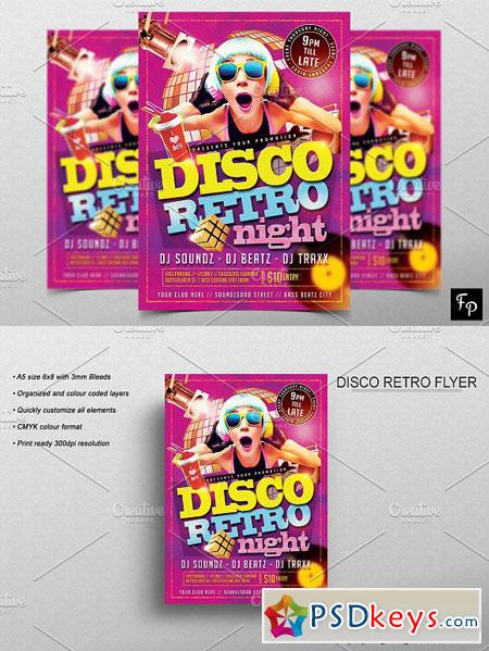 Disco Retro Flyer 2905440