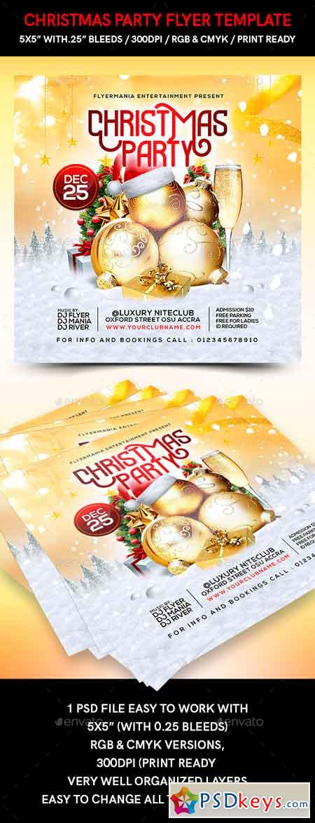 Christmas Party Flyer Template 22715269