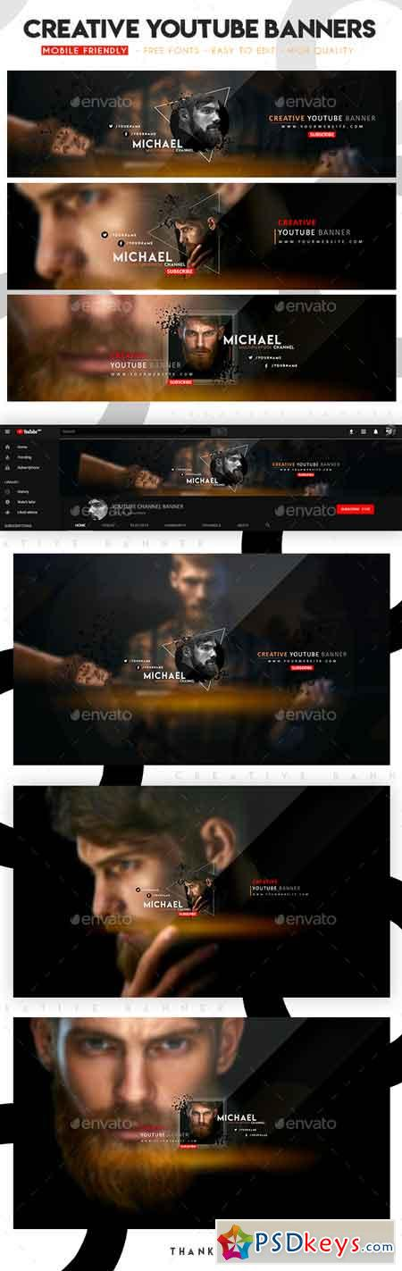 Creative Multipurpose YouTube Banners 22714302