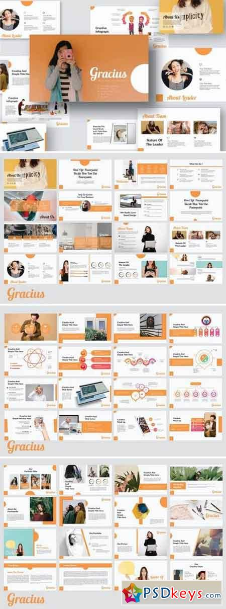 Gracius Keynote and Google Slides Template