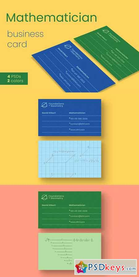 Mathematician Business Card Template 2930580