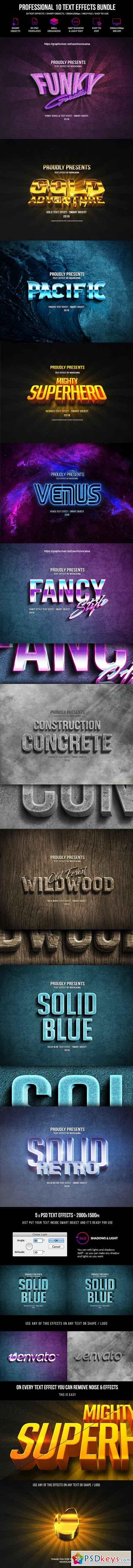 Professional 10 Text Effects Bundle 22563076