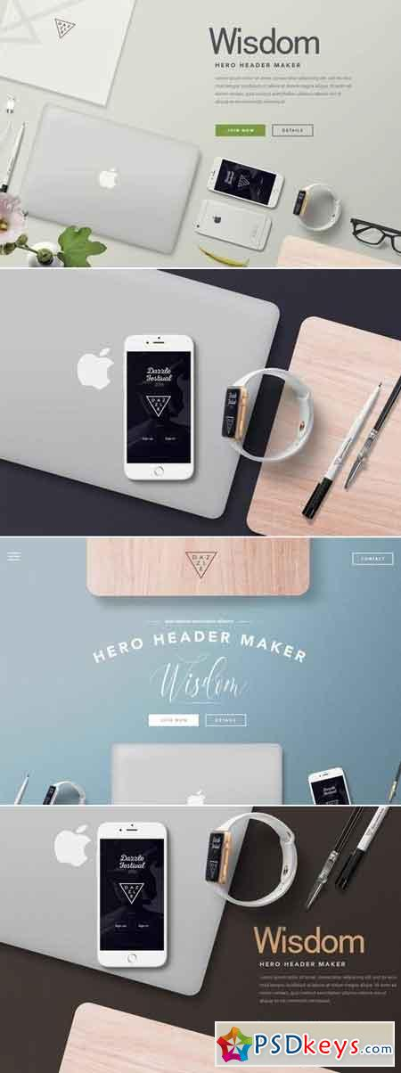 Hero Header Mockup – Apple Devices Mockups
