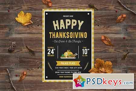 Happy Thanksgiving Flyer