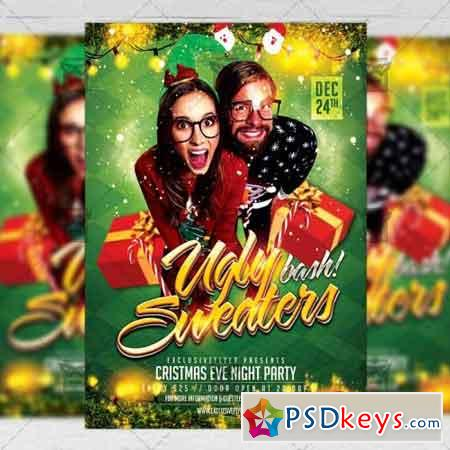 Ugly Sweaters Bash - Seasonal A5 Flyer Poster Template