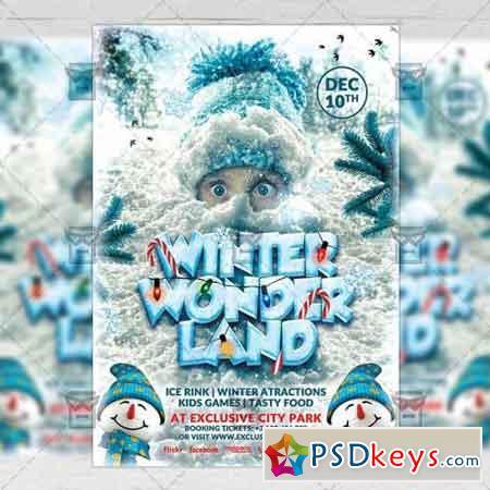 Winter Wonderland – Seasonal A5 Flyer Poster Template