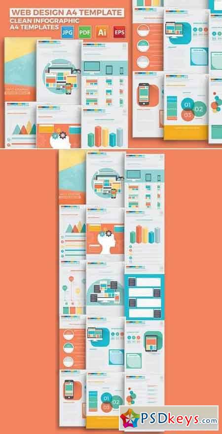 Web Design Infographic Elements Design