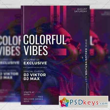 Colorful Vibes Flyer - Club A5 Template