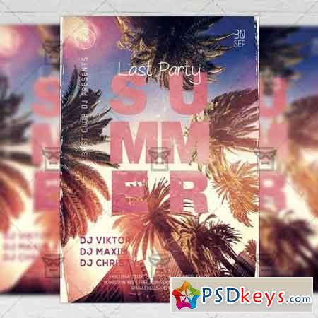 Last Summer Party Flyer - Seasonal A5 Template