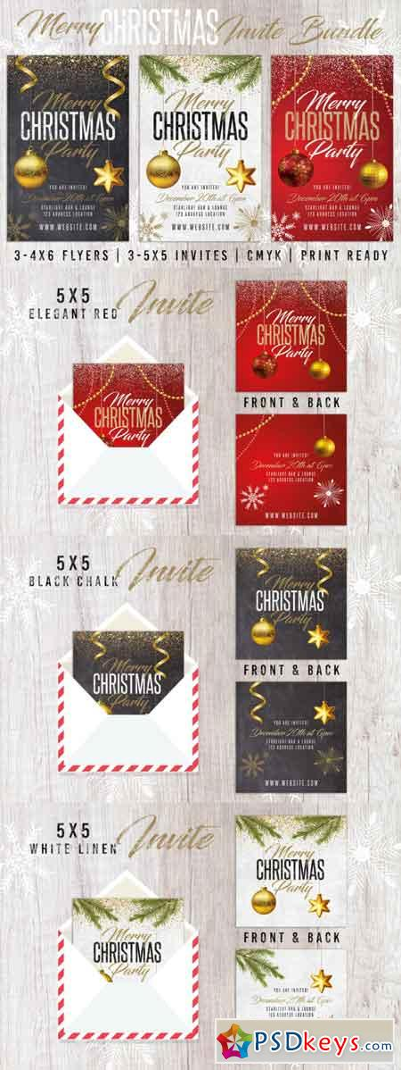 Christmas Holiday Invite Bundle Pack 3503134