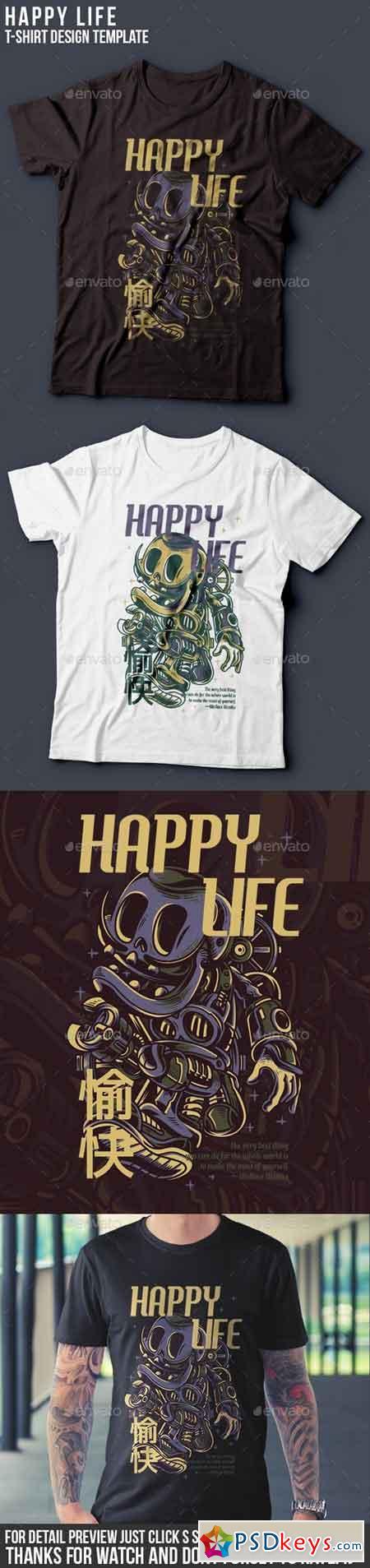 Happy Life T-Shirt Design 22143297