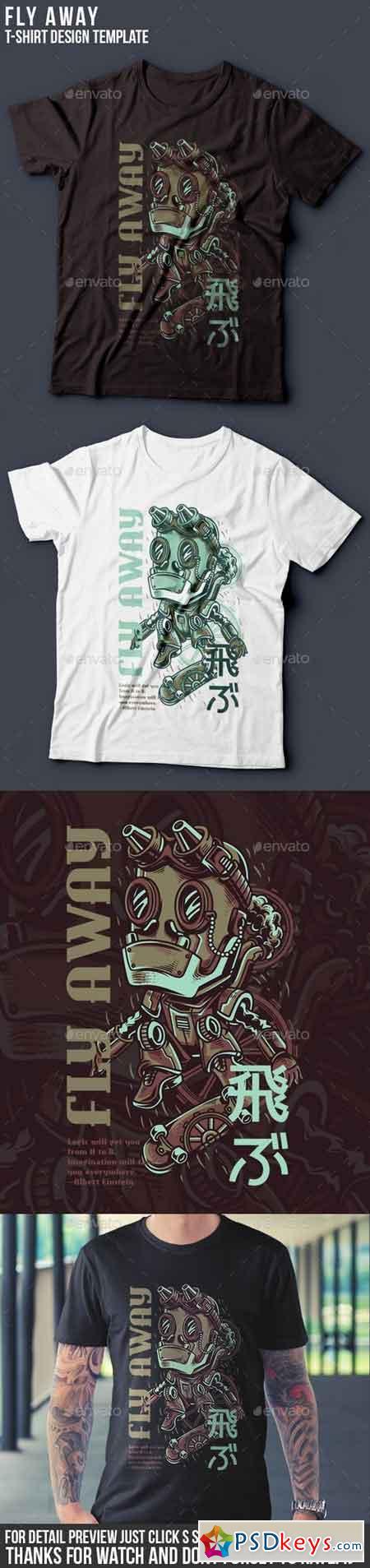 Fly Away T-Shirt Design 22143339