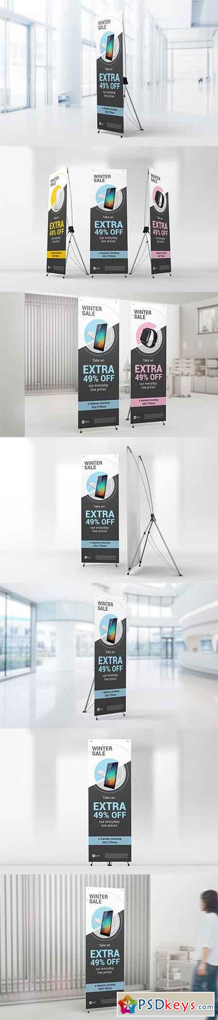X-Stand Banner Mockups