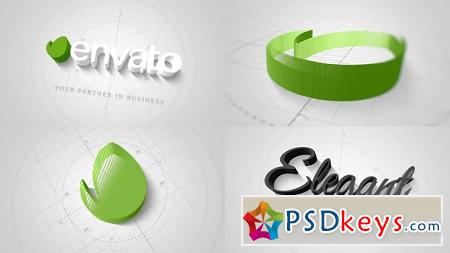 Technical Elegant Logo 3D Opener 22066596 After Effects Template