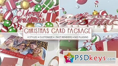 Christmas Card Package 9614673 After Effects Template