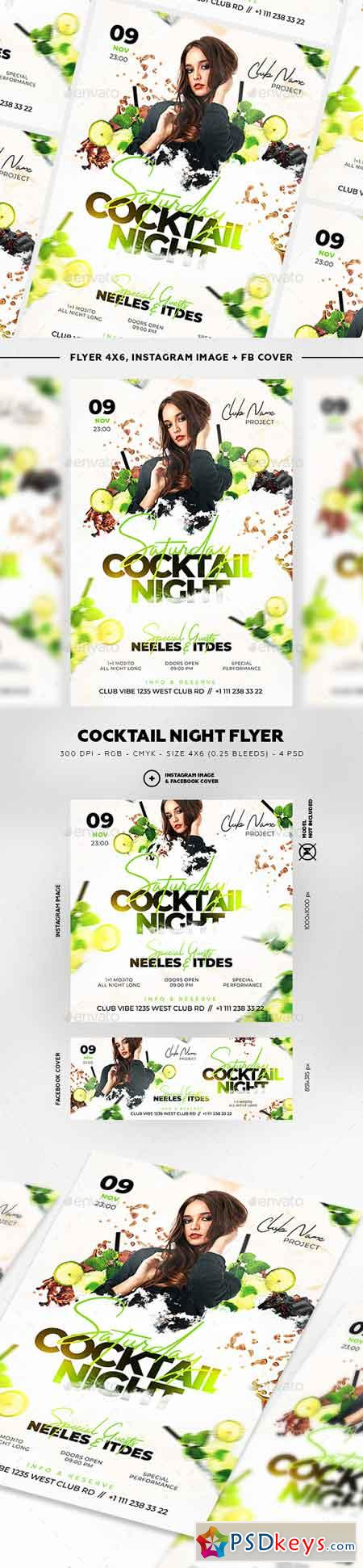 Cocktail Night Flyer 22791316