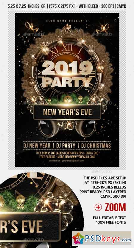New Year Party Flyer 22779398