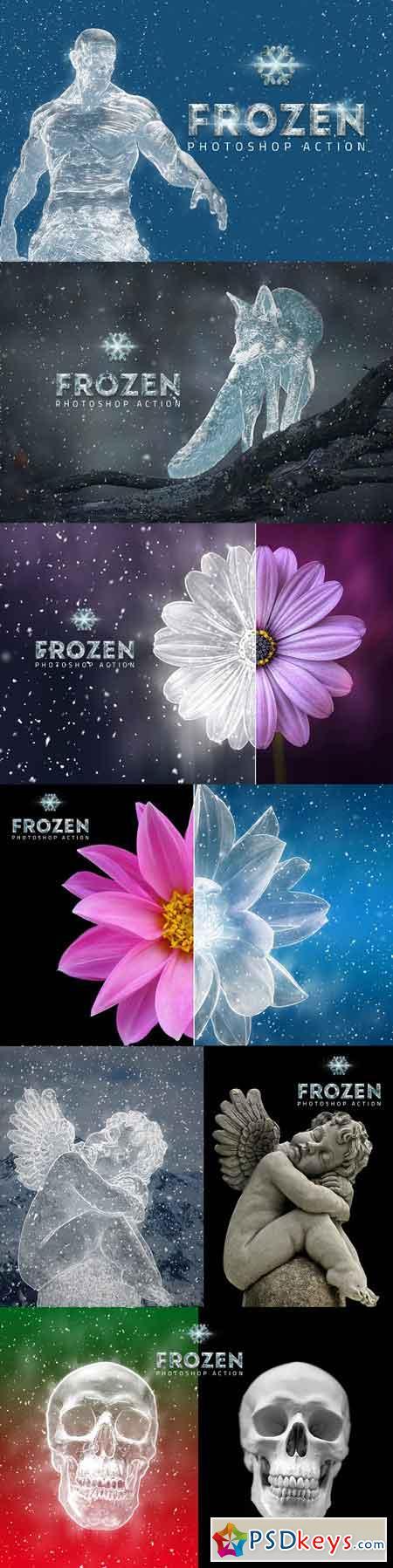 Frozen Ice Photo Effect 3119587