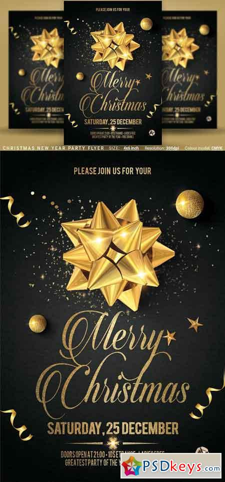 Christmas New Year Party Flyer 3125031