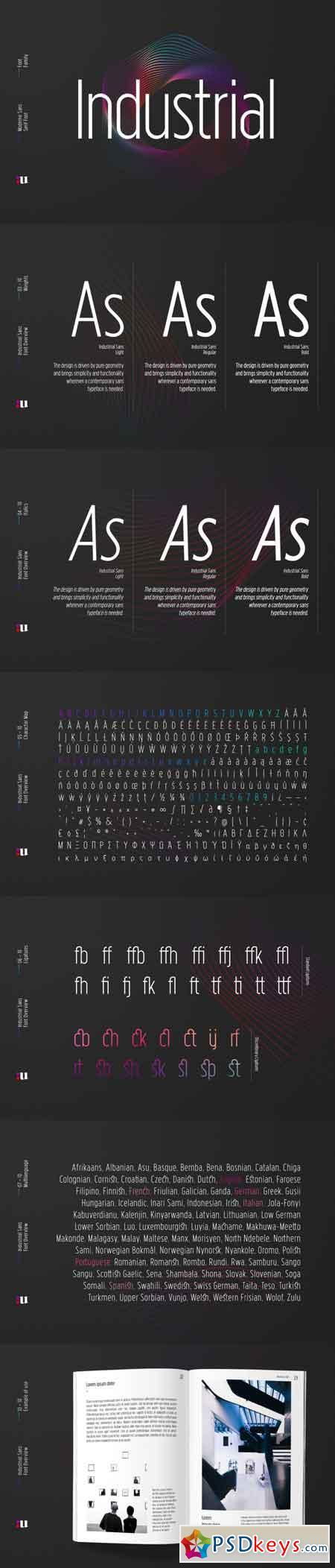 Industrial Sans Typeface 3503153