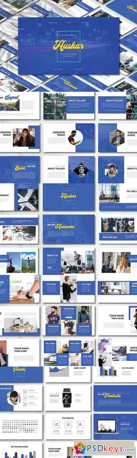 Huskar PowerPoint Template 3110654