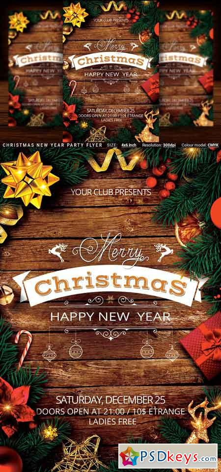 Christmas New Year Party Flyer 3108250