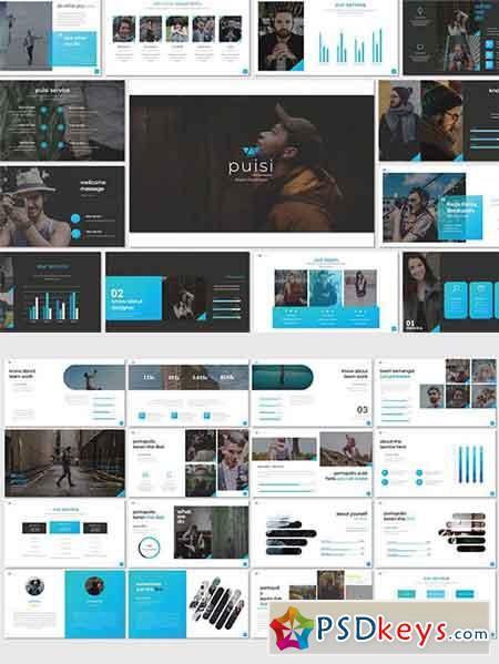 Puisi Business Powerpoint, Keynote, Google Sliders