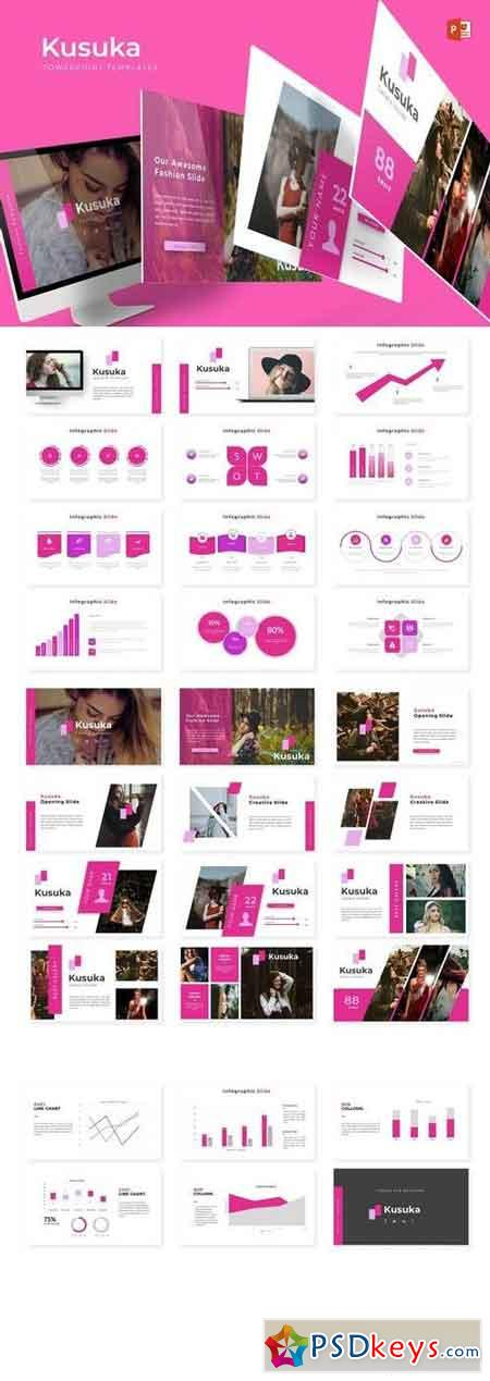 Kusuka - Powerpoint, Keynote, Google Sliders Templates