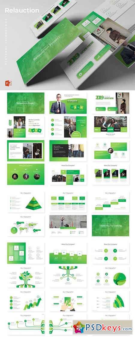 Relaouction - Powerpoint, Keynote and Google Sliders Templates