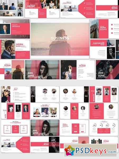 Business Modern - Powerpoint, Keynote, Google Sliders Templates