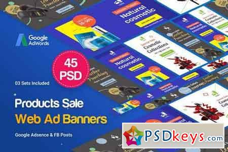 Product Banners Ad - 45 PSD [03 Sets]